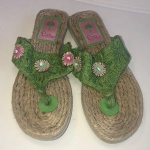 Lily Pulitzer espadrille sandal very nice